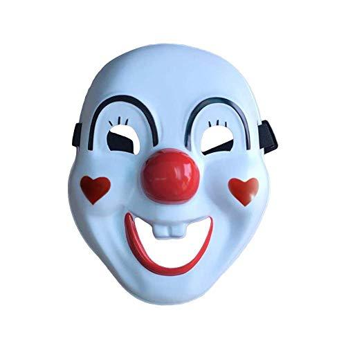 Nie-hu LED Halloween Clown Glühende Maske Kaltes Licht Kunststoff Street Dance Maske Scary Tod Schädel Maske Kürbis Maske Weihnachtsmann Maske für Festival Cosplay Weihnachten Halloween-Kostüm (Scary Erwachsene Halloween-kostüme)