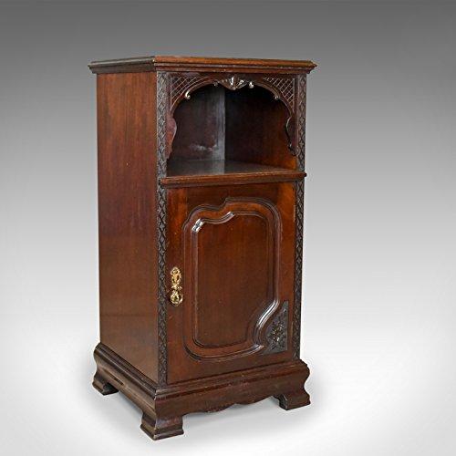 London Fine Antiques Antik, Nachttisch, Schrank, geschnitztem Mahagoni, Nachttisch, Englisch, Circa 1910 - Mahagoni Schrank