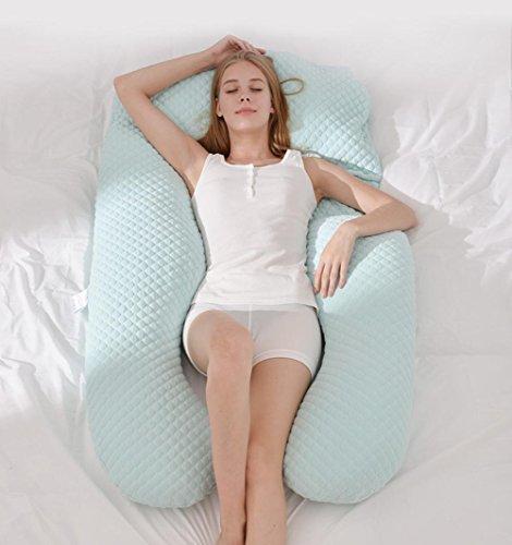 Le donne incinte cuscino proteggere le memorie mobili vita multi-funzione di sostegno U - tipo di cuscino , light green