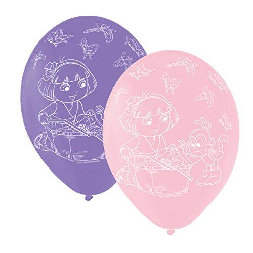 Dora The Explorer Single Sided Print Latex Balloons Pack of 6
