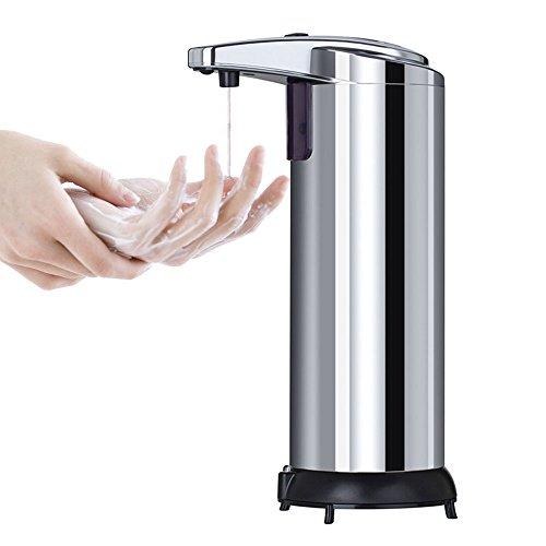PDR- Automatische Seifenspender Edelstahl Kontaktfrei Art 250 ml Intelligente Sensor - Seifenspender Geeignet Für Desinfektion Flüssigkeit, Seife, Duschgel, Shampoo (Seifenspender In-schalter)