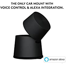 Logitech 989-000201 ZeroTouch Dashboard, Hands-Free Car Mount and Voice Assistant App with Amazon Alexa, Exclusively for Android Phones - Black