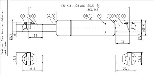 6541SF Molle a gas pensili cucina Valcucine (150 N)