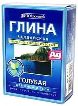Kosmetisches Lehm Tonerde Mineralerde mit Silberionen Valdajsk blau 100g für Gesicht, Körper Anti Aging