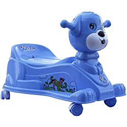 Amardeep And Co Baby Potty Trainer Cum Rider With Wheels And Music 15 Months (Blue)