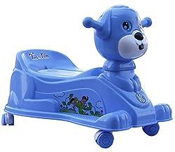 Amardeep Baby Potty Trainer Cum Rider With Wheels And Music 15 Months (Blue)