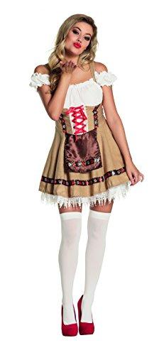 Boland 83518 - Erwachsenenkostüm Bayrisches Mädchen, Dirndl Größe 36 / ()