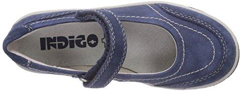 Indigo 426 003 Mädchen Mary Jane Halbschuhe Blau (blue vl 807)