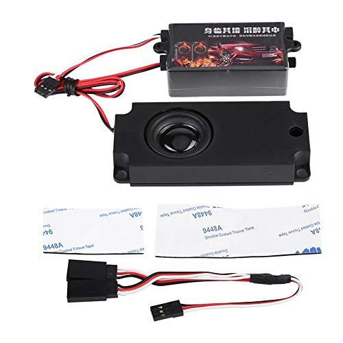 Dilwe RC Auto Motor Sound Simulator, Fernbedienung Auto Sound Motor Simuliertes Modul Set mit 1 Lautsprecher für 1/10 Fahrzeugmodelle(EIN Sprecher) - Baby Simulator