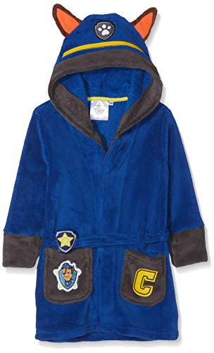 Nickelodeon Jungen Bademantel PAW Patrol Night, Blau (Blue 19-3952tc), 6 Jahre