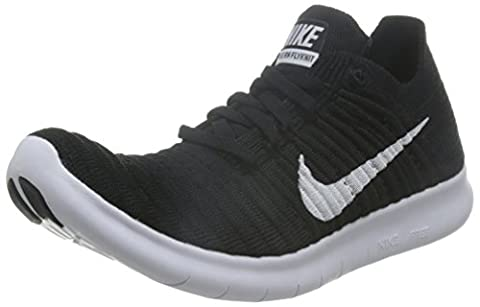 Nike Damen Free RN Flyknit Laufschuhe, Schwarz (Schwarz/Weiß), 40.5 EU