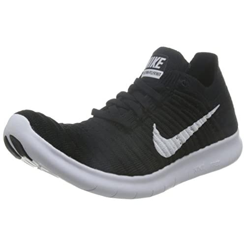 41WyMMHuLLL. SS500  - Nike Free Rn Flyknit, Women's Running Shoes, White (Black / White), 6.5 UK (40.5 EU)