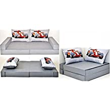 Sofá cama mueble para niño infantil Collage 3 en 1 (gris fórmula 1 A22)