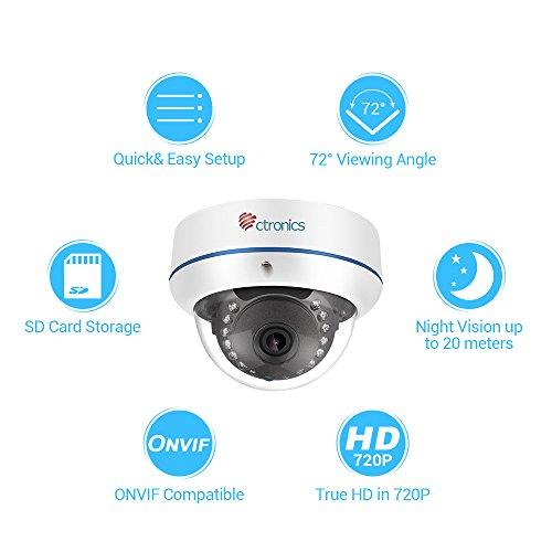【720P】Ctronics Überwachungskameras Dome Kamera IP WIFI Wireless Kamera 720p - 2