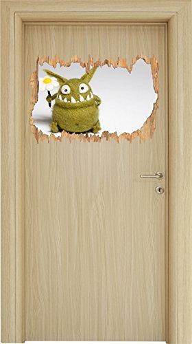 Where are my cookies? Lustiges Krümelmonster Holzdurchbruch im 3D-Look , Wand- oder Türaufkleber Format: 62x42cm, Wandsticker, Wandtattoo, Wanddekoration (Weibliche Cookie Monster)