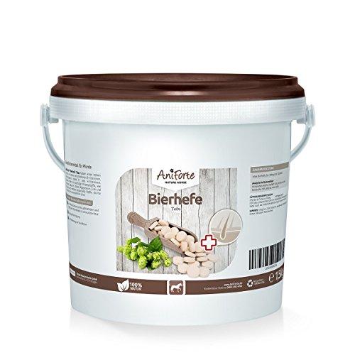 AniForte Bierhefe Tabs 1,5kg (ca. 2500 Tabs) - Naturprodukt für Pferde (Bierhefe Tabs)