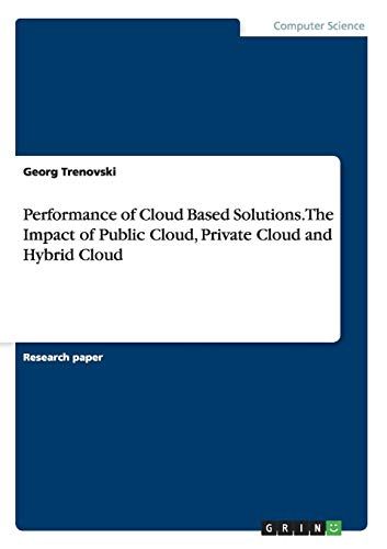 Performance of Cloud Based Solutions. The Impact of  Public Cloud, Private Cloud and Hybrid Cloud - Solution Transformation
