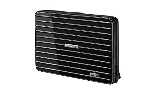 Porsche Laptop circumstance [Rimowa] robust und sehr leicht für 15˝-Laptops- Maße: ca. 39 x27x5 cm **Schwarz/Silber** DE