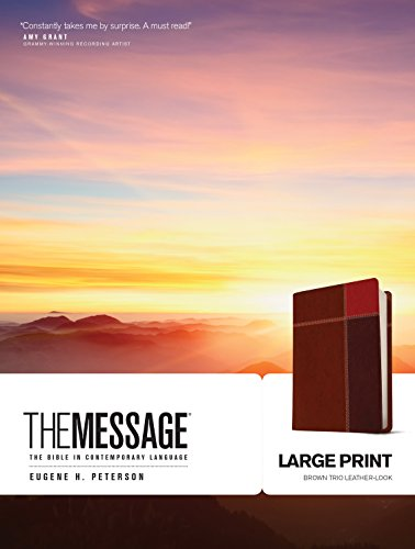 The Message Large Print Brown Trio Leather-Look (The Message Bibles)