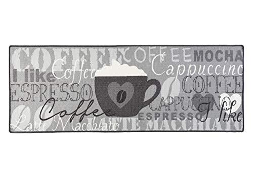 Hanse Home Coffee Cup - Alfombra de Cocina 67 x 180 cm, Color Gris