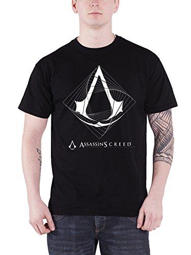 Assassin's Creed T Shirt Spiral Logo Gaming PS4 Xbox Official Mens Black