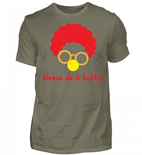 ClassicLounge Hochwertiges Herren Premiumshirt - Clown - Zirkus - Geschenk - Karneval - Kostüm - Circus - Gift: Clowns Do It Better (Star Kostüme Ideen)