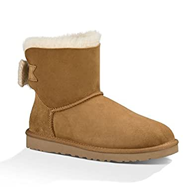 Ugg W Mini Knit Bow, Bottes et boots women 41 Chestnut