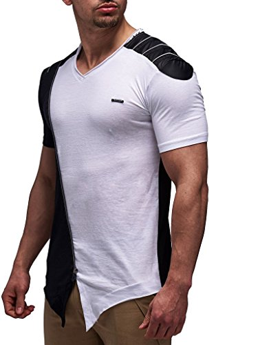 LEIF NELSON Herren Oversize T-Shirt LN520; Größe L, Schwarz |