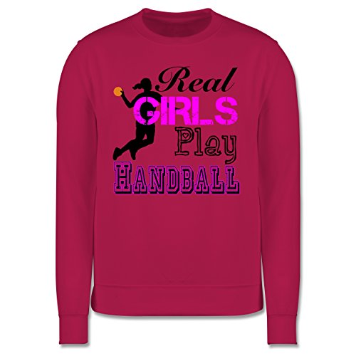 Handball - Real Girls Play Handball - Herren Premium Pullover Fuchsia