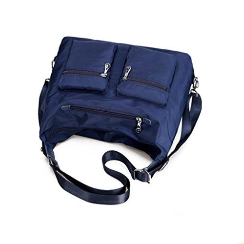Vbiger Beiläufig Umhängetasche Wasserdichte Schultertasche Große Kapazität Handtasche für Frauen Dunkelblau