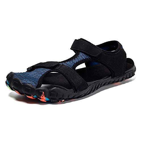 Midumen Herren Trekking Sandalen Sommer Damen rutschfest Wandern Sandalen Outdoor Strand Wanderschuhe Schuhe Blau 42 EU
