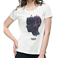 NUTSPIN Stranger Things Graphic Printed T-Shirt for Women - White