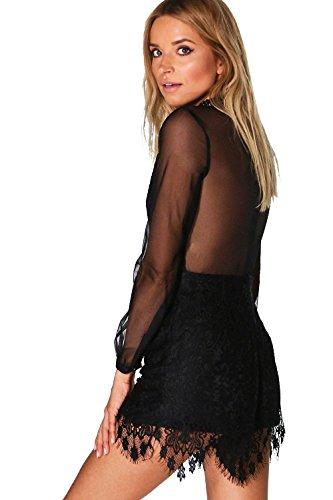 Noir Femmes Boutique Emma Barely There Playsuit Noir