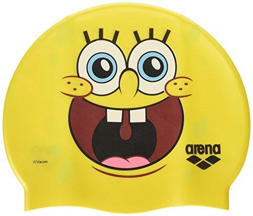 (arena Spongebob Jr, Kinder Badekappe, Gelb, One Size)