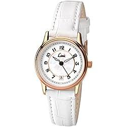 Limit Women's Quartz Watch with White Dial Analogue Display and White Polyurethane Strap 6202.01