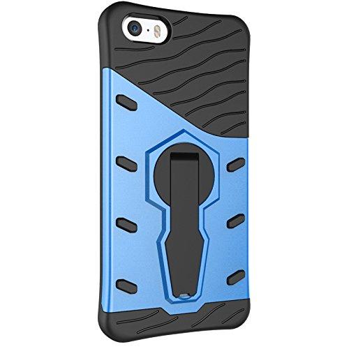 JIALUN-Telefon Fall Iphone 5S SE Fall, 2 in 1 Schock-Zone mit einem kühlen rückseitigen Abdeckungs-Handy-Fall für Iphone 5S SE ( Color : Red , Size : Iphone 5S SE ) Blue