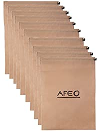 AFEO Non-Woven Fabric Shoe Bag(Beige) - Pack of 10