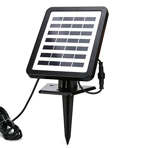 YA-Uzeun Gartenpumpe für den Außenbereich, solarbetrieben, mit LED-Beleuchtung B/w Board Security Camera