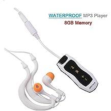Reproductor MP3 impermeable Y&M (TM) 100 % IPX8 8 GB portátil, impermeable,
