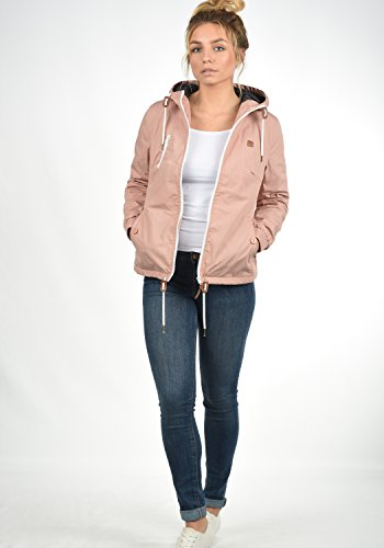 DESIRES Tilda Damen Übergangsjacke Jacke gefüttert mit Kapuze, Größe:XL, Farbe:Mahog. Rose (4203) - 4