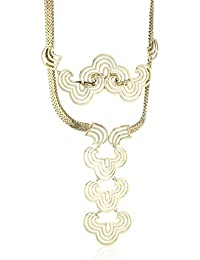 Wouters & Hendrix Women's Yellow Gold Plated 925 Sterling Silver and Copper Pendant Necklace of 66 cm