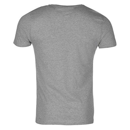 Official Herren T Shirt Sommer Freizeit Kurzarm Rundhals Tee Grau