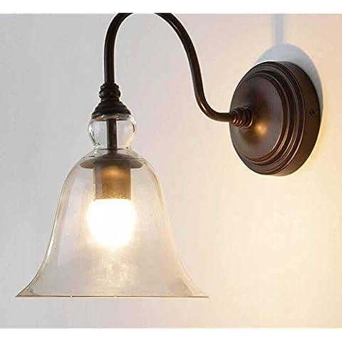 SSBY Lámparas de pared de estilo americano país, lámpara vintage industrial terraza, cafetería, Europea-estilo retro-vintage al aire libre iluminación