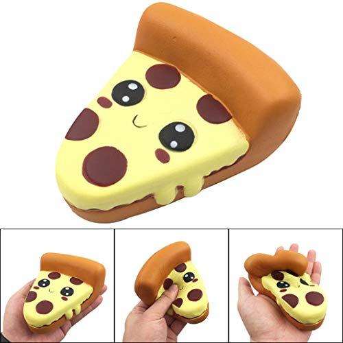 TAOtTAO Dummes Squishy lustiges Karikatur-Pizza-Charme-langsames Steigendes Pressungs-Druck-Helfer-Spielzeug
