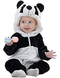Queque Shine Jumpsuit Bebé Unisexo Bebé Recién Nacido Franela Mameluco  Invierno Ropa Una Pieza Pijamas Animal 82105c001c4