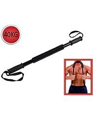 Vetrineinrete® Power twister manubrio flessibile a molla barra di potenza per sport palestra allenamento pettorali e braccia body building 40 kg F12