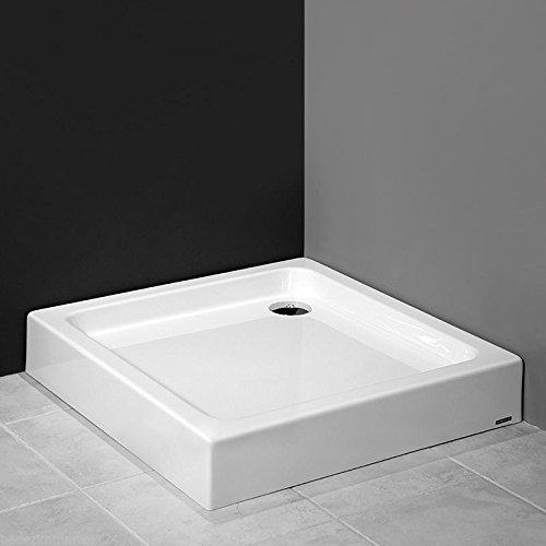 Preisvergleich Produktbild AQUABAD® Duschwanne/Duschtasse mit Styroporträger, Quadratisch 90x90x17 cm, integrierte Acrylschürze