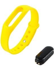 Chigu deportes pulsera C6reloj inteligente deporte inalámbrica Bluetooth 4.0pulsera inteligente Deportes Pulsera podómetro Sleep monitor contador de calorías Fitness actividad rastreador, amarillo