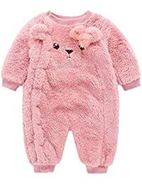 Pijamas para Niños,Oso De Dibujos Animados para Bebés Más Terciopelo Grueso Y Abrigados Onesies