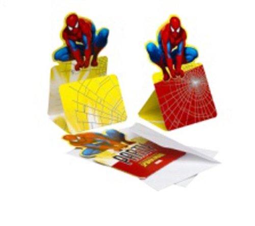 Partner Jouet - A1102397 - Décoration de Fête - 6 Cartes Invitation - Spider